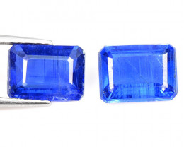 3.61 Cts 2 Pcs Fancy Royal Blue Color Natural Kyanite Gemstone Parcel