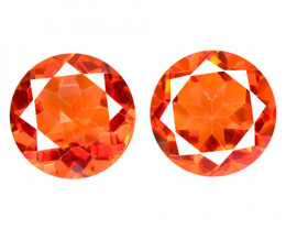 6.99 Cts 2 Pcs Rare Fancy Orange Red Color Natural Mystic Topaz