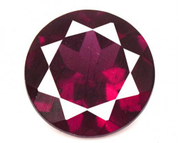 2.87 Cts Unheated Natural Cherry Pinkish Red Rhodolite Garnet Gemstone