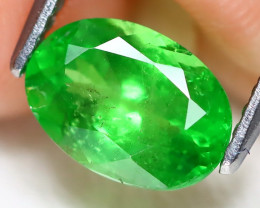 Tsavorite 1.57Ct Oval Cut Natural Green Tsavorite Garnet A1904