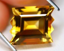 Citrine 5.26Ct VVS Fancy Cut Natural Golden Yellow Citrine A1911