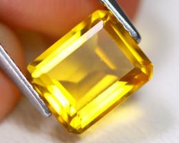 Yellow Fluorite 3.02Ct VS2 Octagon Cut Natural Yellow Fluorite A1916