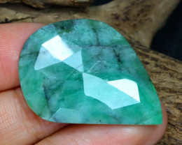 Unheated 22.15Ct Natural Untreated Green Emerald A1917