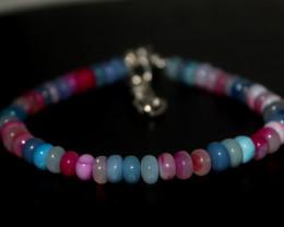 40 Crts Natural Ethiopian Welo Multi Color Opal Bracelet 257