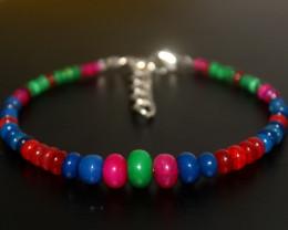 28 Crts Natural Ethiopian Welo Multi Color Opal Bracelet 269