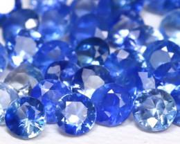 3.10Ct Round 1.8mm Natural Vivid Blue Color Sapphire Lot C1912
