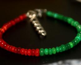 21 Crts Natural Ethiopian Welo Multi Color Opal Bracelet 265