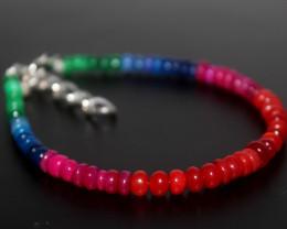 25 Crts Natural Ethiopian Welo Multi Color Opal Bracelet 273