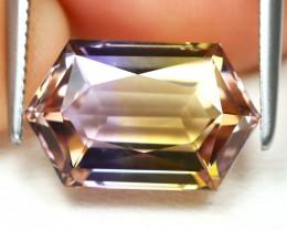 Ametrine 3.21Ct VS Hexagon Cut Natural Bolivian BiColor Ametrine B1906