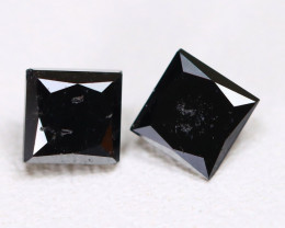Black Diamond 0.68Ct 2Pcs Natural Fancy Black Diamond A2015
