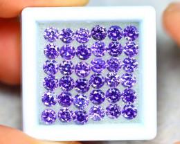 Amethyst 11.00Ct 36Pcs Natural Uruguay VVS Electric Purple Amethyst ER444