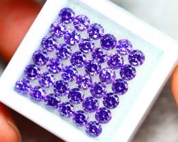 Amethyst 11.00Ct 36Pcs Natural Uruguay VVS Electric Purple Amethyst  ER445
