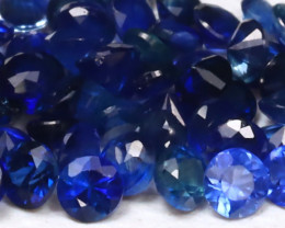 3.34Ct Round 1.8mm Natural Royal Blue Color Sapphire Lot B2002