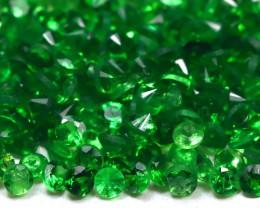 3.30Ct Calibrate 1.3mm Natural Green Color Tsavorite Garnet Lot B2009