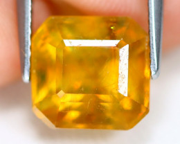 Yellow Sapphire 5.48Ct Square Cut Yellow Color Sapphire B2012