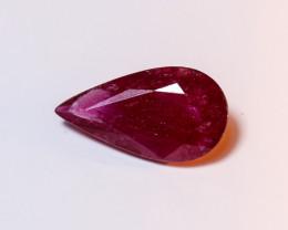 **No Reserve** 3.96ct Pear-Cut Ruby