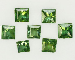 3.66 Cts Natural Green Apatite Square 5mm Parcel Brazil