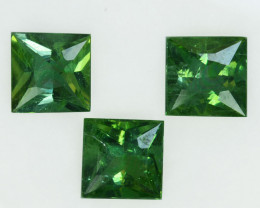 6.02 Cts Natural Green Apatite Square 7.50mm Parcel Brazil