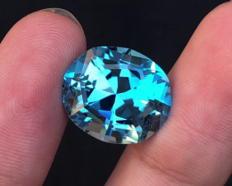 Stunning 21.40 Ct Natural Blue Topaz Gemstone