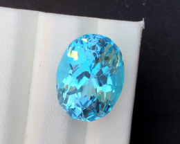 Stunning21.40 Ct Natural Blue Topaz Gemstone