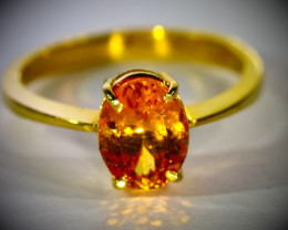 Mandarin Spessartine 2.30ct Solid 22K Yellow Gold ring