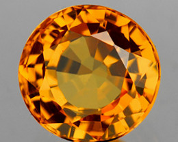 4.70 mm Round 0.50ct Intense Yellow Sapphire [VVS]