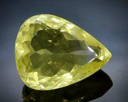 15.60 Crt Natural  Lemon Quarzt Faceted Gemstone.( AB 58)