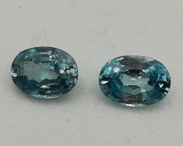 Zirkon pair, 2.19ct, the stones fit very well but coukd be clearer