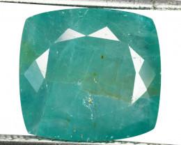 ~RAREST~ 9.71 Cts Natural Grandidierite Bluish Green Cushion Madagascar