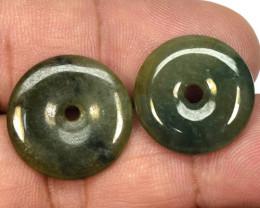 24.23 Carat 2 Pcs Very Rare Natural Green Aventurine Gemstones