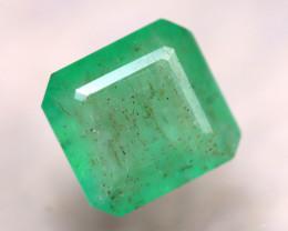 Emerald 2.95Ct Natural Zambia Green Emerald D2416/A38