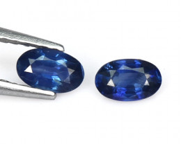 1.39 Cts 2 Pcs Amazing Rare Natural Fancy Blue Sapphire Loose Gemstone
