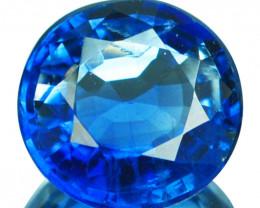 1.46 Cts Natural Royal Blue Kyanite 7.0mm Round Cut Nepal