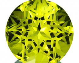 ~CUSTOM CUT~ 15.18 Cts Natural Lemon Quartz Mind Blowing Round Brazil