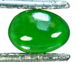 ~UNTREATED~ 0.93 Cts Natural Jade Cabochon Vivid Green Burmese