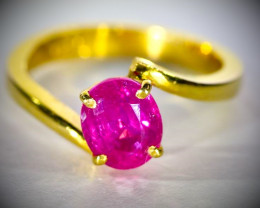 Jegdalek Ruby 2.25ct Solid 22K Yellow Gold Ring
