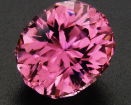 6.41cts  Pink Tourmaline, Precision Cut, Certified