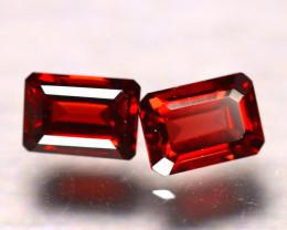 Almandine 2.94Ct 2Pcs Natural Vivid Blood Red Almandine Garnet EF2604/B3