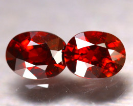 Almandine 3.40Ct 2Pcs Natural Vivid Blood Red Almandine Garnet EF2606/B3