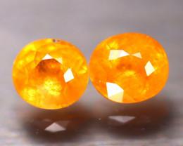 Fanta Garnet 3.57Ct 2Pcs Natural Orange Fanta Garnet EF2610/B34