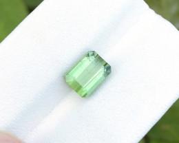 2.55 Ct Natural Greenish  Transparent Tourmaline Ring Size Gemstone