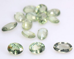 13.08 Cts 13 Pcs Amazing Rare Natural Fancy Green Sapphire Loose Gemstone