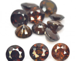 8.40 Cts 12 Pcs 5mm Round Sphene Color Change Natural Gemstone