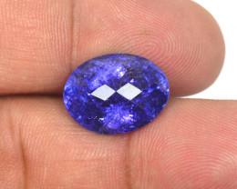 11.11 Cts Amazing rare Violet Blue Color Natural Tanzanite Gemstone
