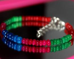 30 Crts Natural Ethiopian Welo Multi Color Opal Bracelet 299