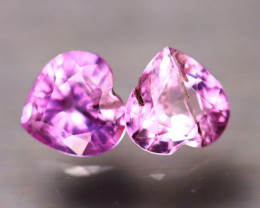Unheated Sapphire 0.90Ct 2Pcs Natural Heart Shape Pink Sapphire EE2632/B32