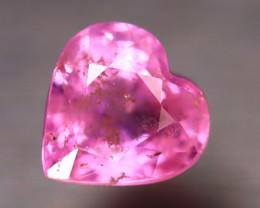 Unheated Sapphire 1.20Ct Natural Heart Shape Pink Sapphire EE2640/B32