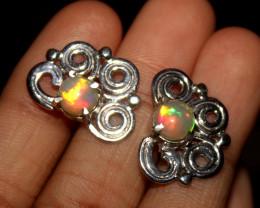 Natural Ethiopian Welo Opal Stud Earrings 47
