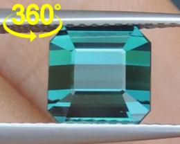 3.09cts, Cyan Blue Indicolite Tourmaline,