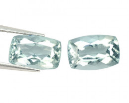 5.03 Cts 2 PCS Un Heated Blue  Natural Aquamarine Loose Gemstone
